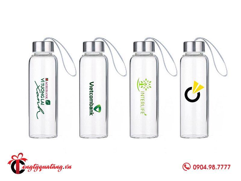 Bình nước in logo