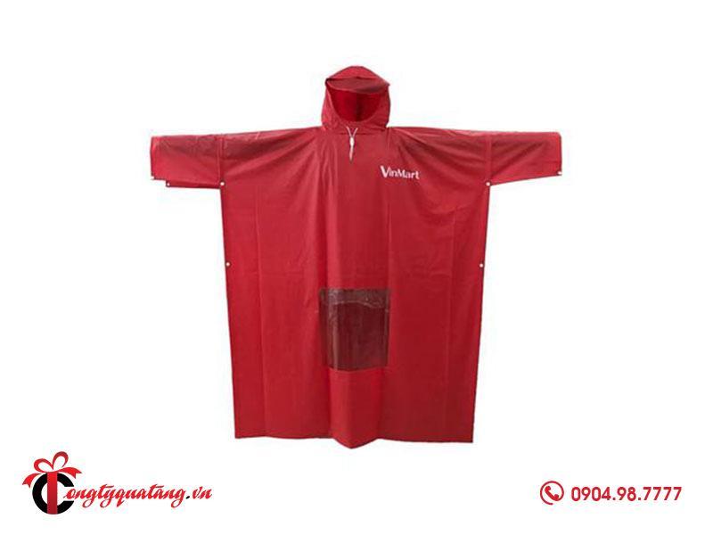 áo mưa cài cạnh in logo vinmart
