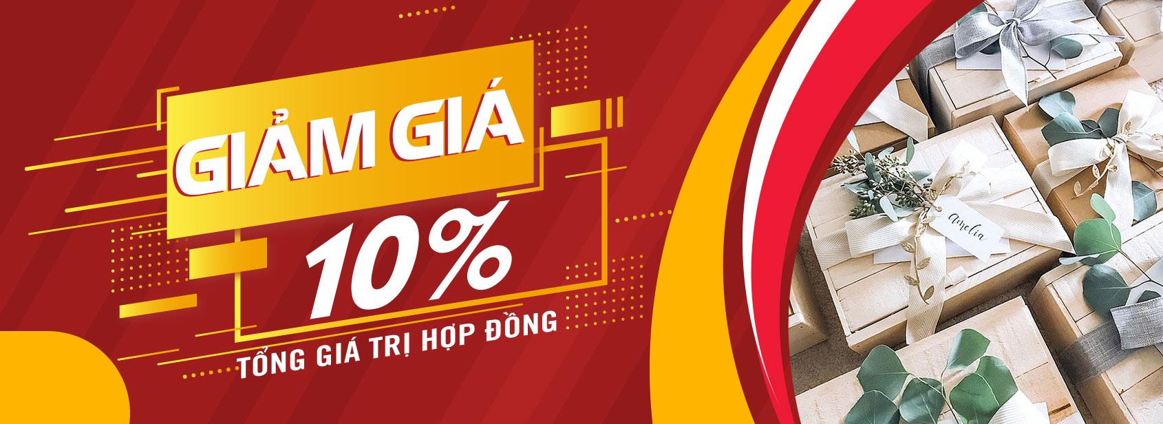 Congtyquatang.vn - Giảm 10% Tổng giá trị hợp đồng